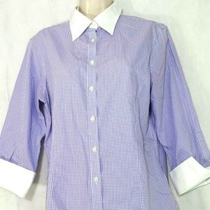 Brooks Brothers 346 Fitted Non-Iron Shirt Blouse